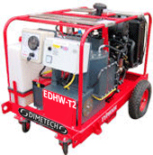 hot and cold petrol driven pressure washer image